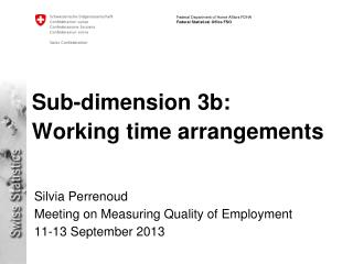 Sub- dimension  3b:  Working time  arrangements