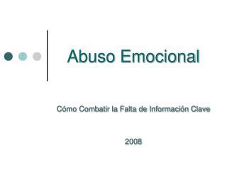 Abuso Emocional