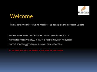 Welcome The Metro Phoenix Housing Market – 1q 2010 plus the Forecast Update