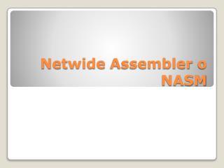 Netwide Assembler  o NASM
