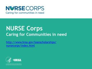 NURSE Corps  Loan Repayment Program