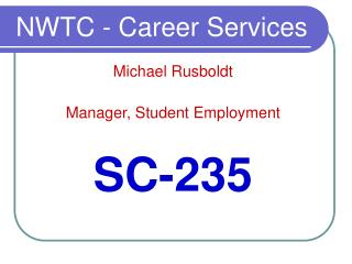 NWTC - Career Services