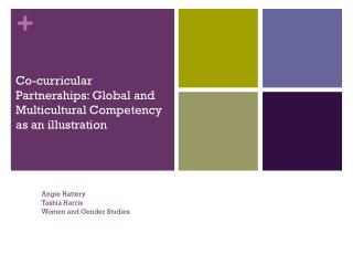 Co-curricular Partnerships: Global and Multicultural Competency as an illustration