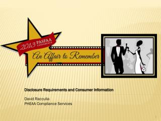 Disclosure Requirements and Consumer Information