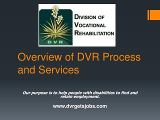 Overview of DVR Process and Services