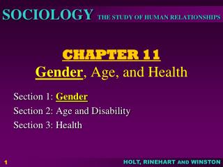 CHAPTER 11 Gender , Age, and Health