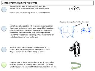 Steps for Evolution of a Prototype