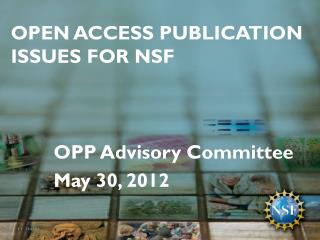 Open Access publication  Issues for NSF