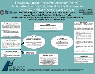 The Military Suicide Research Consortium (MSRC):