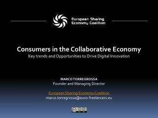 Marco Torregrossa Founder and Managing Director European Sharing Economy Coalition