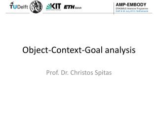 Object-Context-Goal analysis