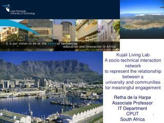 Retha de la  Harpe Associate Professor IT Department CPUT South Africa