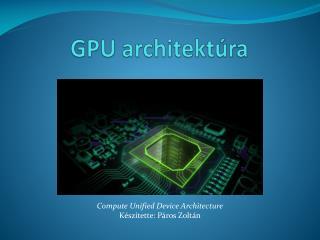 GPU architektúra