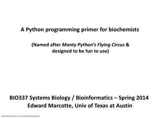 A Python programming  primer for biochemists