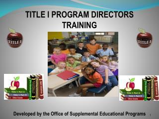 TITLE I PROGRAM DIRECTORS TRAINING
