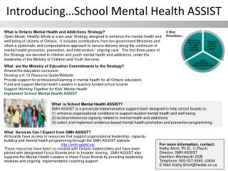 Introducing…School Mental Health ASSIST