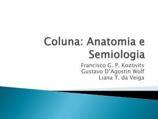 Coluna: Anatomia e Semiologia