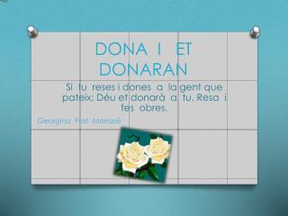 D ONA  I   ET  DONARAN