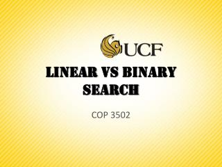 Linear  vs  Binary Search