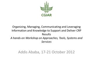 Addis Ababa, 17-21 October 2012
