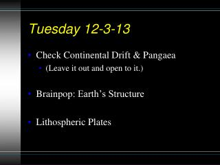 Tuesday 12-3-13