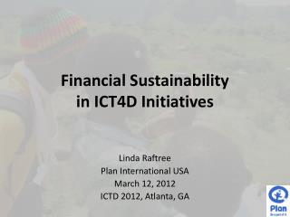 Financial Sustainability in ICT4D Initiatives