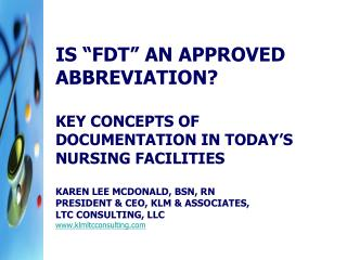 IS FDT AN APPROVED ABBREVIATION
