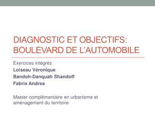 Diagnostic et  objectiFs : Boulevard de l'automobile