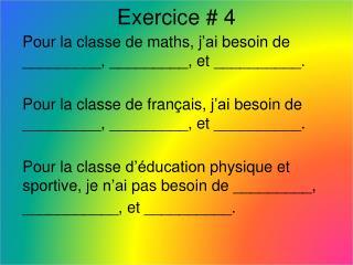 Exercice  # 4