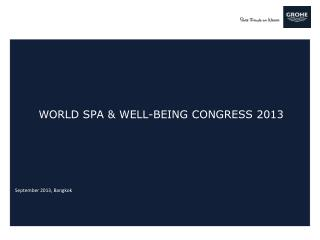 world Spa & Well-being  congress  2013