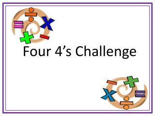 Four 4's Challenge