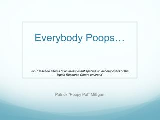 Everybody Poops…