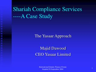 Shariah Compliance Services