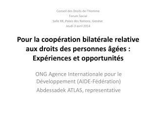 ONG Agence Internationale pour le Développement ( AIDE-Fédération )