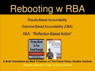 Rebooting w RBA