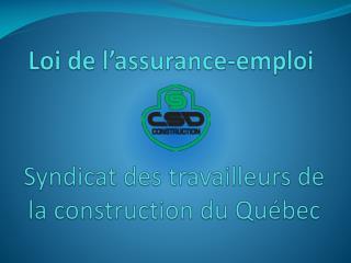Loi de l�assurance-emploi