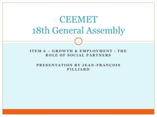 CEEMET  18th General Assembly