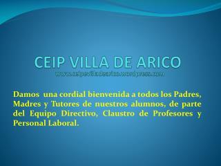 CEIP VILLA DE ARICO www.ceipevilladearico.wordpress.com