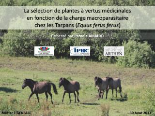 La sélection de plantes à vertus médicinales  en fonction de la charge  macroparasitaire