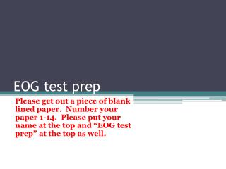 EOG test prep