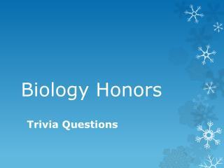 Biology Honors