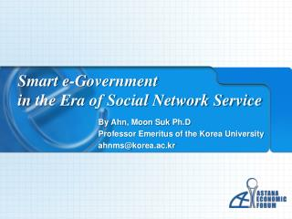 Smart  e-Government  in  the Era of Social Network Service