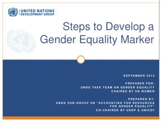 Steps to Develop a  Gender Equality Marker