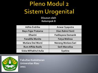 Pleno Modul  2 Sistem  Urogenital