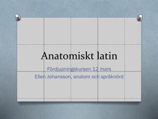 Anatomiskt latin