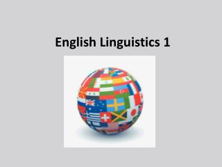 English Linguistics 1