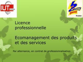 Licence professionnelle Ecomanagement  des produits et des services