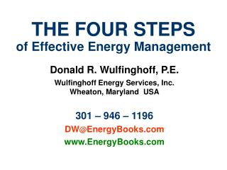 THE FOUR STEPS of Effective Energy Management