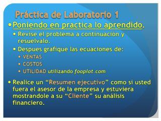 Práctica de Laboratorio 1