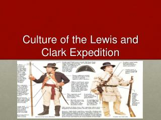 Culture of the Lewis and Clark Expedition